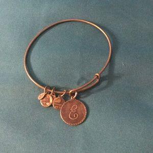Alex and ani E bracelet